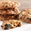 white chocolate cherry oatmeal cookies