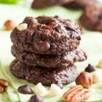 nutty triple chocolate brownie cookies