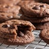 triple chocolate cranberry cookies
