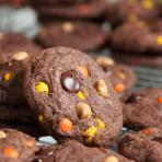 double chocolate reese's pieces cookies